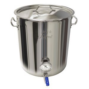 32QT  /  8G  /  30L Stainless Steel Heavy Duty Kettle with SS Ball Valve & Thermometer