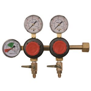Double CO2 Regulator with 1 / 4'' Shut-off Valve