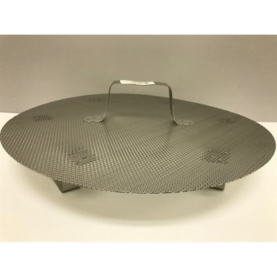 "Stainless Steel False Bottom with legs and handle (15"" d.)"